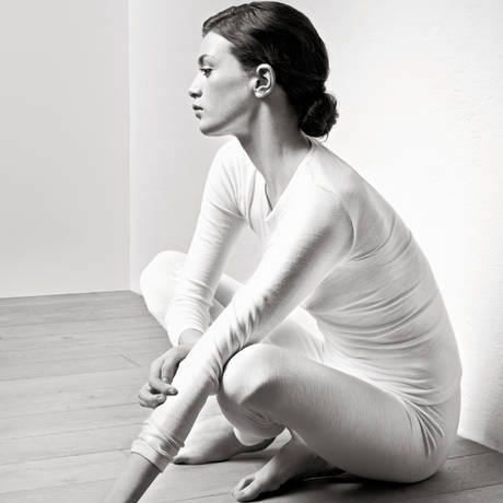 Legging en soie Woolen silk Cygne
