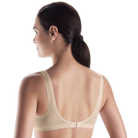 HANRO Soutien-gorge triangle sans armatures en coton Cotton Seamless Nude