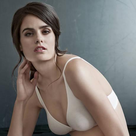 HANRO Soutien-gorge moulé sans armatures en coton Cotton Sensation Blanc