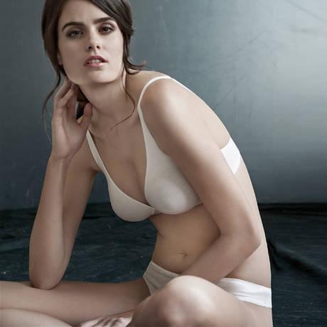 Soutien-gorge moulé sans armatures en coton Cotton Sensation Blanc