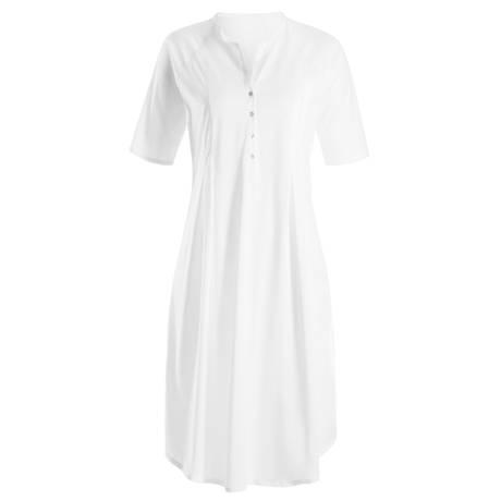 HANRO Chemise de nuit  en coton Cotton Deluxe Blanc