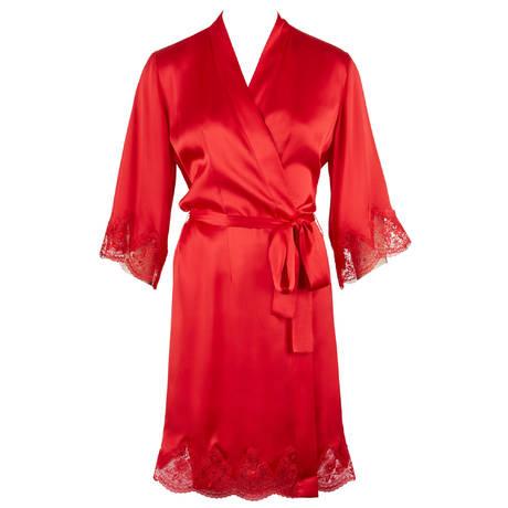 Déshabillé kimono en soie Rive Gauche Passion Gala