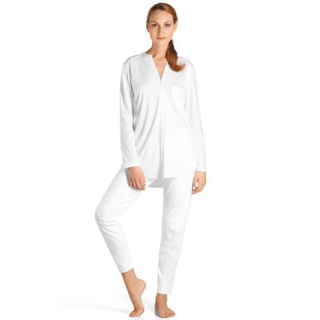 HANRO Pyjama en coton Pure Essence Blanc