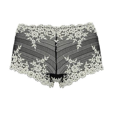 WACOAL Shorty Embrace Lace Noir/Blanc