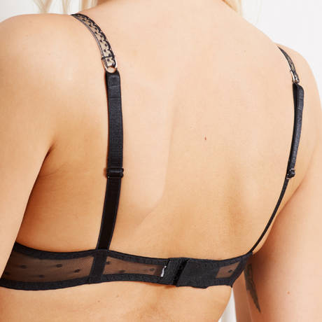 BARBARA Soutien-gorge push-up Casino Noir/Rose