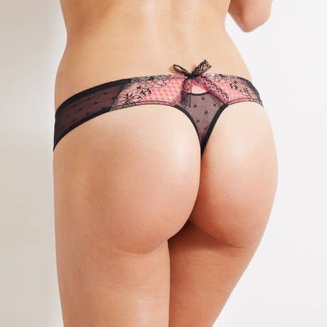 Tanga Casino Noir/Rose