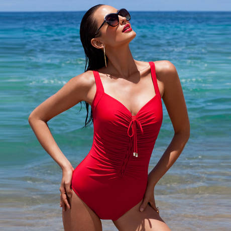 MIRACLESUIT Maillot de bain 1 pièce Rivage gainant Solid One Piece Rouge