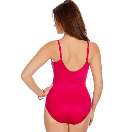 MIRACLESUIT Maillot de bain 1 pièce Nip N Tuck Solid One Piece Magenta