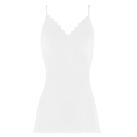 Caraco coton fil d'écosse Blanc