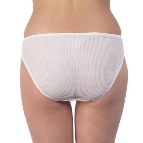 Culotte côtelée coton fil d'écosse Blanc