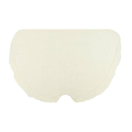 OSCALITO Slip côtelé en coton fil d'écosse Blanc cassé