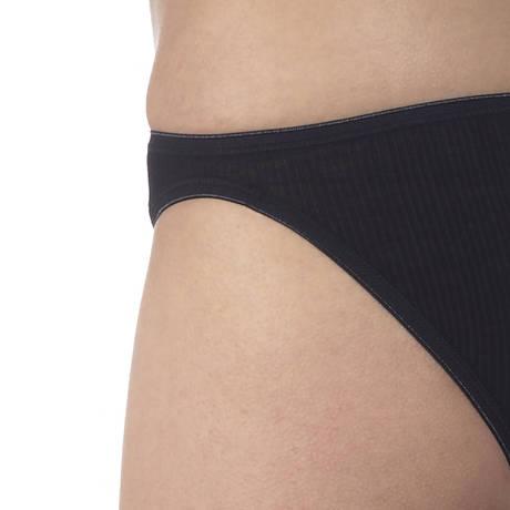 Slip côtelé coton fil d'écosse Noir