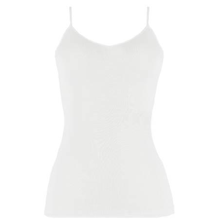 Top coton fil d'écosse Blanc