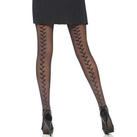 LE BOURGET Collant 30 deniers Elegance Couture Noir