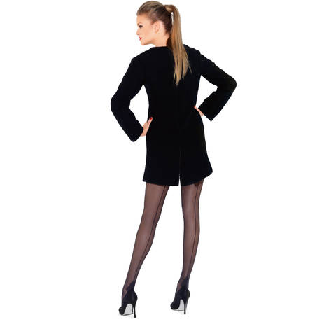 Collant Couture Retro 20D Les Dessous Chics Noir