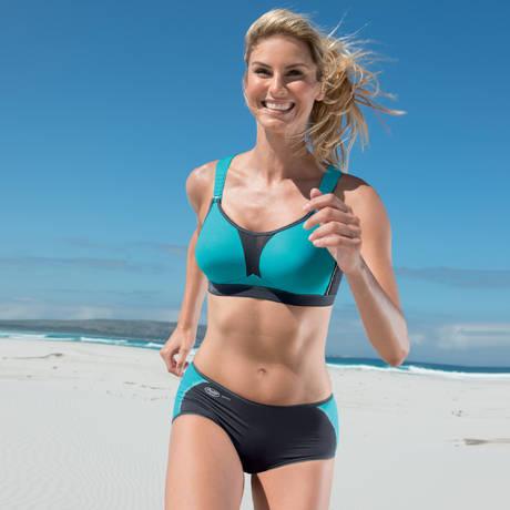 ANITA Culotte de sport Bleu Turquoise/Noir