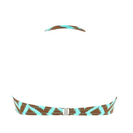 ANTIGEL Maillot de bain bandeau coques La Botswana Chocolat Turquoise