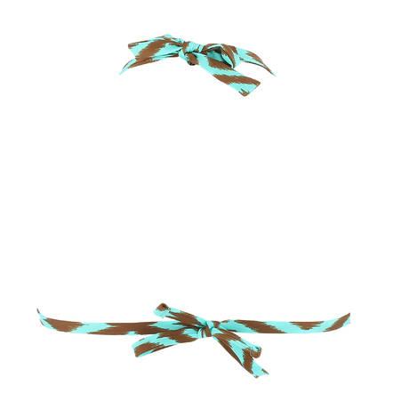 ANTIGEL Maillot de bain triangle mousse amovible La Botswana Chocolat Turquoise