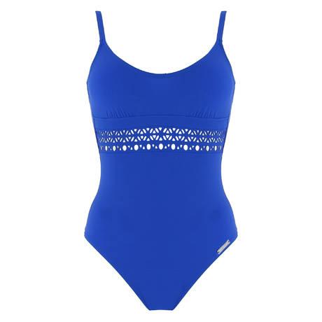 LISE CHARMEL Maillot de bain 1 pièce nageur Ajourage Couture Etrave Bleu