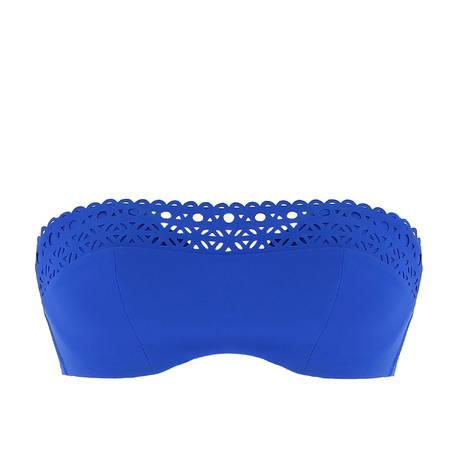 Maillot de bain brassière coques Ajourage Couture Etrave Bleu