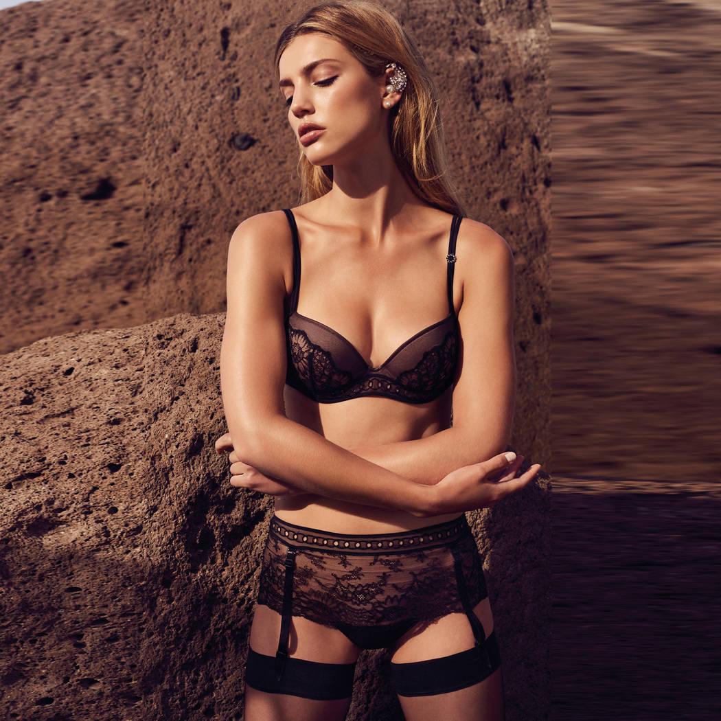 MARIE JO Culotte porte-jarretelles Jewell Noir