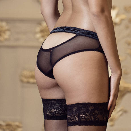LES JUPONS DE TESS Culotte Scarlett Noir