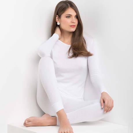 OSCALITO Top manches longues en coton Termotex Blanc