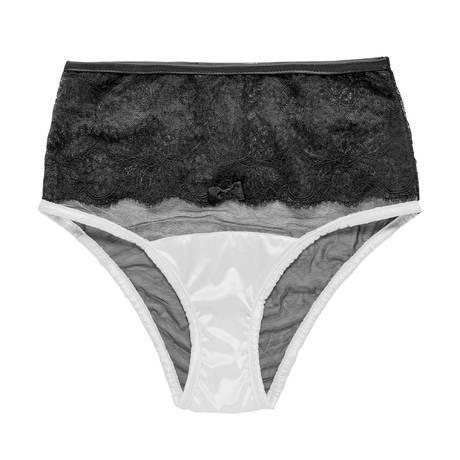 LES JUPONS DE TESS Culotte Petula Noir/Blanc