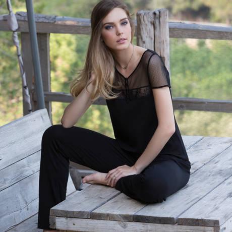 TECCIA Pyjama Jewel4 Noir