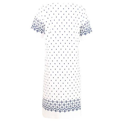 Chemise de nuit Inca7 Blanc/Bleu