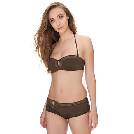 HUIT Maillot de bain bandeau coques Full in Love Basil
