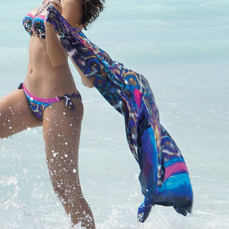 ANTIGEL Paréo long La Coralienne Magie Corail Multicolore Multicolore Multicolore