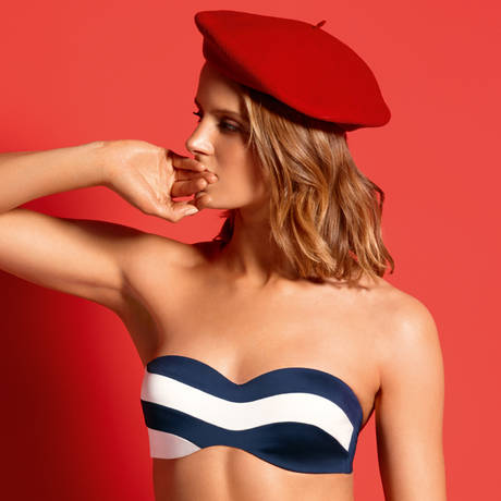 HUIT Maillot de bain bandeau coques Be with You Evening Blue