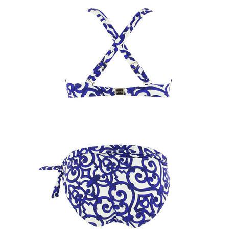 MARYAN MEHLHORN Maillot de bain 2 pièces coques Rocaille Cream Iris