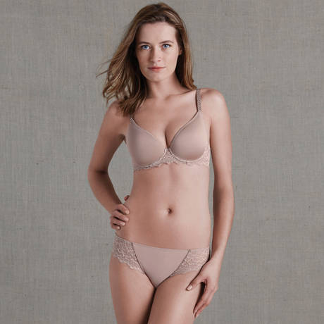 Soutien-gorge plunge spacer Caresse Muscade