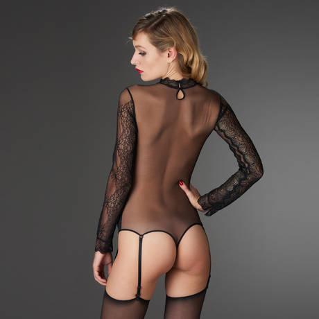 MAISON CLOSE Body string La Directrice Noir