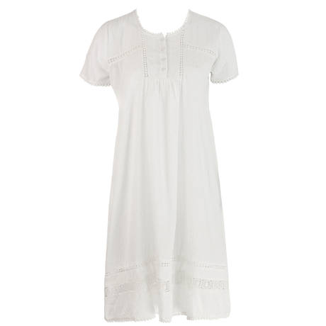 Chemise de nuit Ella7 Blanc