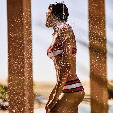 ANDRES SARDA Maillot de bain bandeau rembourré Agata Rouge