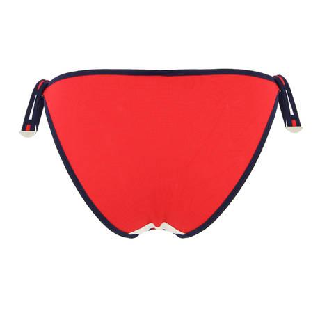 Maillot de bain slip taille basse Agata Rouge