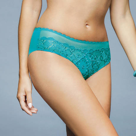 ANTINÉA Shorty Courbes Persanes Turquoise Océan