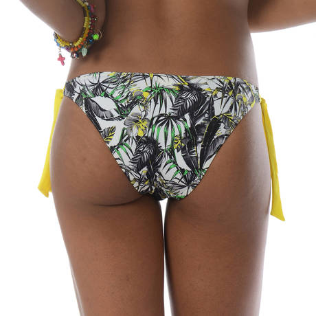 BANANA MOON Maillot de bain slip lacets Jungleline Multicolore
