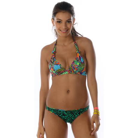 BANANA MOON Maillot de bain tanga réversible Habanera Multicolore