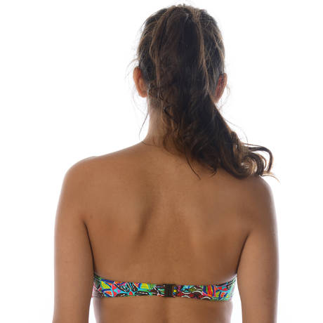 Maillot de bain bandeau coques Habanera Multicolore
