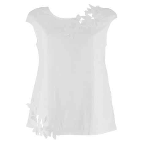 Top coton fil d'écosse Summer Mood Blanc