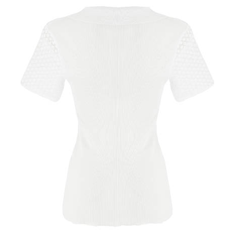 Top coton fil d'écosse Confident Blanc