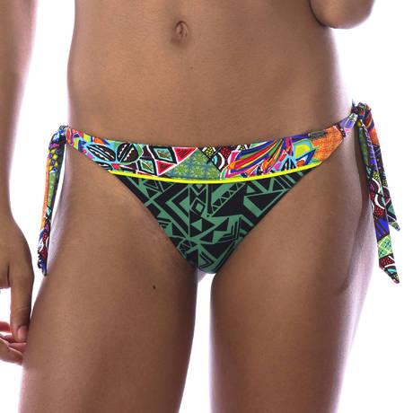 BANANA MOON Maillot de bain slip lacets reversible Habanera Multicolore