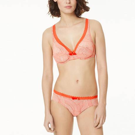 Soutien-gorge foulard armatures Oxygène Orange