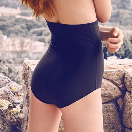BARBARA Culotte haute galbante Azur Noir