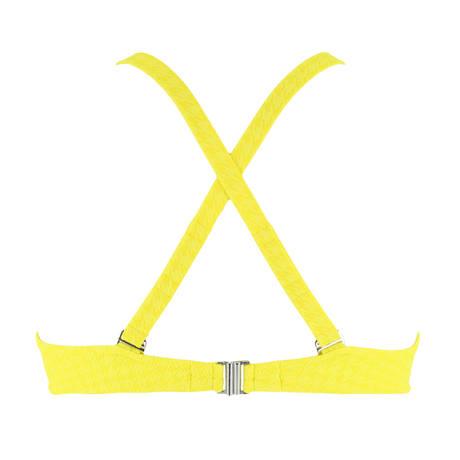 Maillot de bain armatures triangle bonnets profonds La Design Plage Jaune