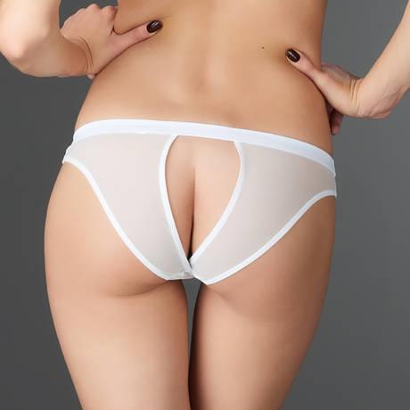 MAISON CLOSE Slip ouvert Pure Tentation Blanc